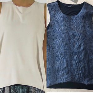 Two olivaceous tanks size small